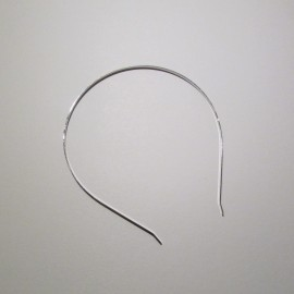 Hairband 4mm Silver