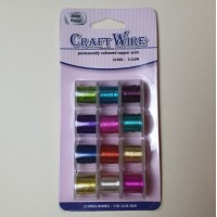 Craft Wire 12 Spools 0.3mm