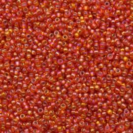 Miyuki Round Seed Beads 11/0 Silver Lined Orange AB