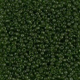 Miyuki Round Seed Beads 11/0 Transparent Olive
