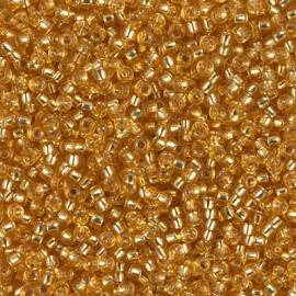 Miyuki Round Seed Beads 11/0 Silverlined Dark Gold