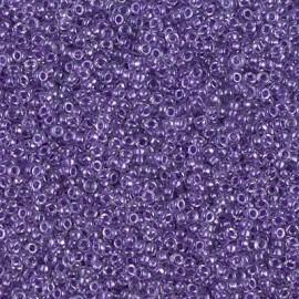 Miyuki Round Seed Beads 15/0 Sparkling Purple Lined Crystal