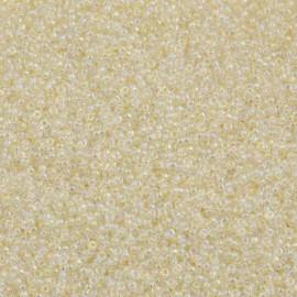 Miyuki Round Seed Beads 15/0 Ivory Gold Luster