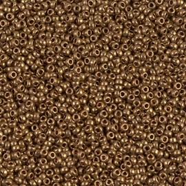 Miyuki Round Seed Beads 15/0 Metallic Light Bronze