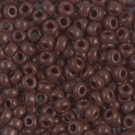 Miyuki Round Seed Beads 6/0 Opaque Chocolate