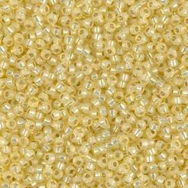 Miyuki Round Seed Beads 6/0 Light Daffodil Silverlined Alabaster