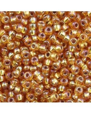 Miyuki Round Seed Beads 8/0 Silver Lined Dark Gold AB