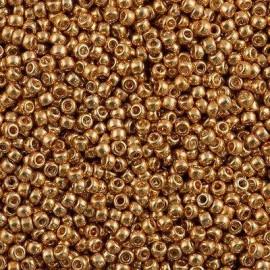 Miyuki Round Seed Beads 8/0 Galvanized Gold