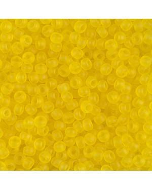 Miyuki Round Seed Beads 8/0 Matte Transparent Yellow
