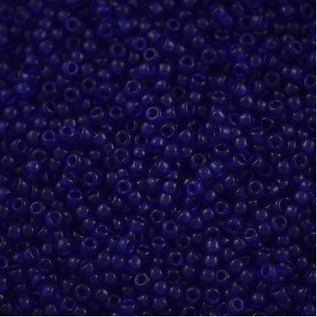 Miyuki Round Seed Beads 8/0 Transparent Cobalt