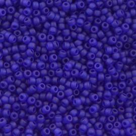 Miyuki Round Seed Beads 8/0 Matte Cobalt