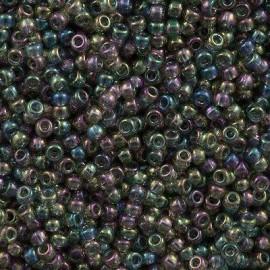 Miyuki Round Seed Beads 8/0 Transparent Gray Luster AB