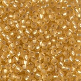 Miyuki Round Seed Beads 8/0 Matte Silverlined Gold