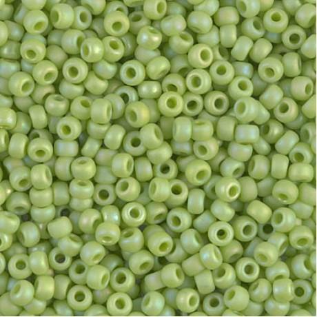 Miyuki Round Seed Beads 8/0 Opaque Chartreuse AB