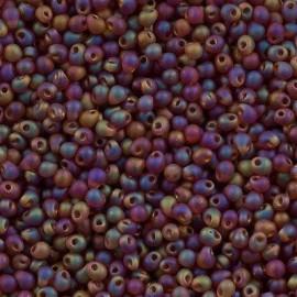 Miyuki Drop Fringe Seed Beads Matte Dark Amber AB