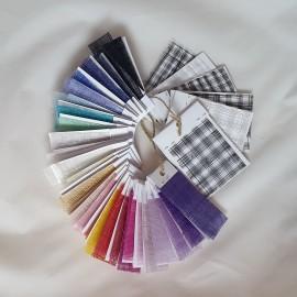 Plain & Window Sinamay Colour Charts