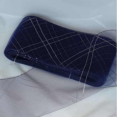 Crinoline with Metallic Zig-Zag Pattern 15cm