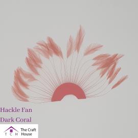 Hackle Fan Dark Coral