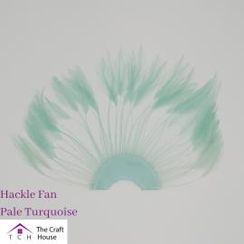 Hackle Fan Pale Turquoise