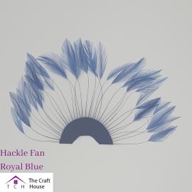 Hackle Fan Royal Blue