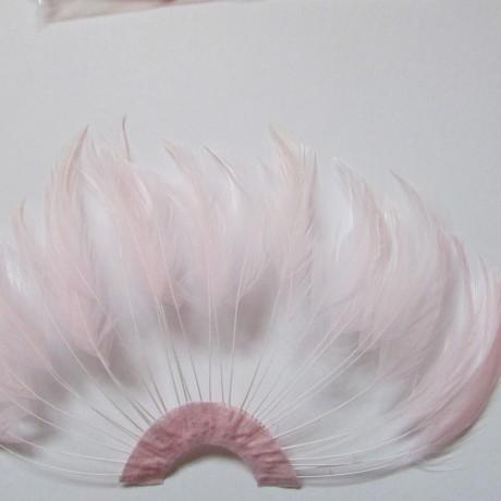 Hackle Fan Baby Pink