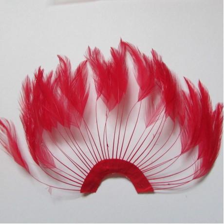 Hackle Fan Scarlet