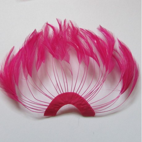 Hackle Fan Sweet Pink