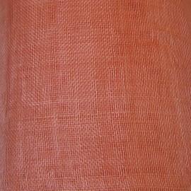 Sinamay Plain Coral Peach - per half metre