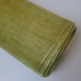 Sinamay Plain Gold - per half metre