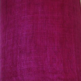 Sinamay Plain Purple Pink - per half metre