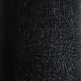 Sinamay Plain Black - per half metre